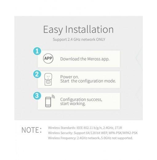Meross MSS210 Mini Smart WiFi Plug Support Google Assistant and Amazon alexa---UK