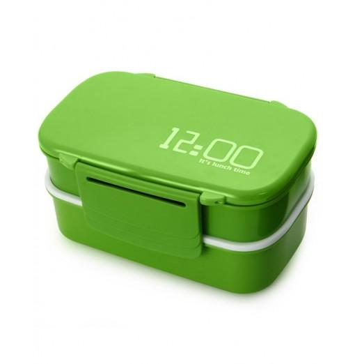 Japan Style Double Tier Bento Lunch Box PP Cute Meal Box Tableware Microwave Oven