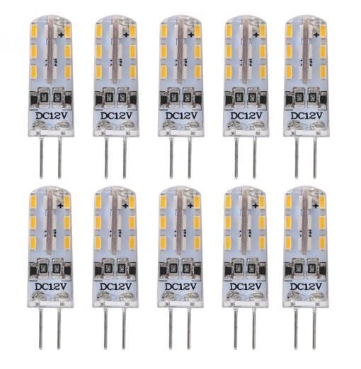 Lightme 10PCS G4 DC12V 1.5W SMD 3014 LED Dimmable Bulb with 24 LEDs