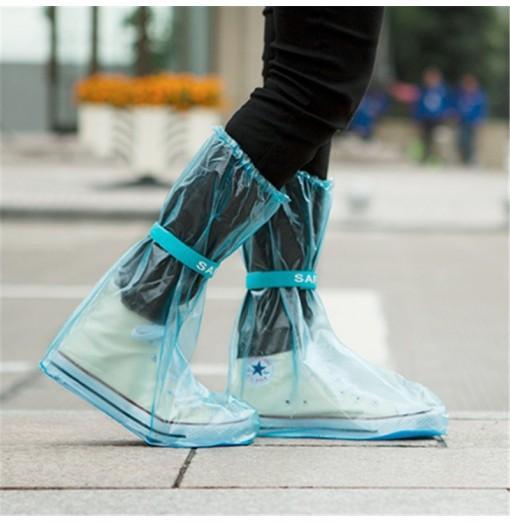 Outdoor Waterproof Reusable Fashion Rain Coat Shoe Boots Cover Overshoes