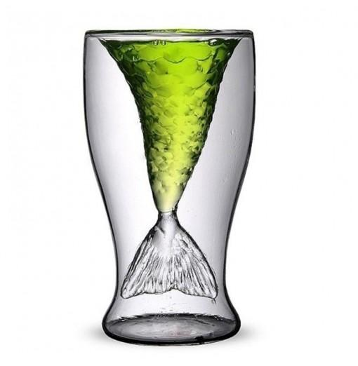 Transparent Creative Mermaid Shape Glass Heat-resistance Cup for Beer and Wine