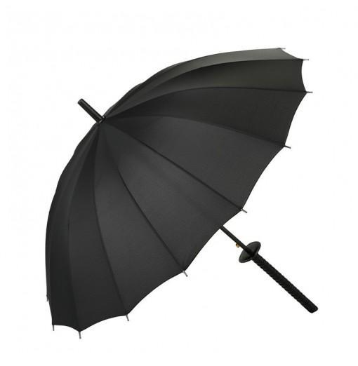Black Katana Straight Handle Umbrella