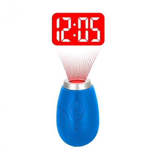 BRELONG Digital projection clock key ring Mini LCD projection clock