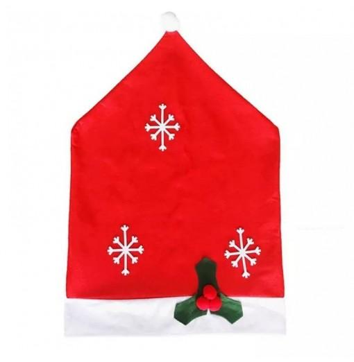 Non Woven Fabric Merry Christmas Chair Covers Set Holiday Party Chair Back Cover