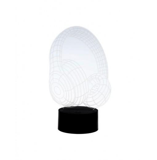 3D Headset Model Touch Switch LED Table Lamp