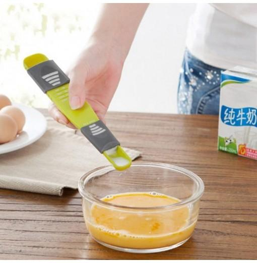 Creative Kitchen Adjustable Milk Spoon Headed Eight Files Scale Measuring Spoons