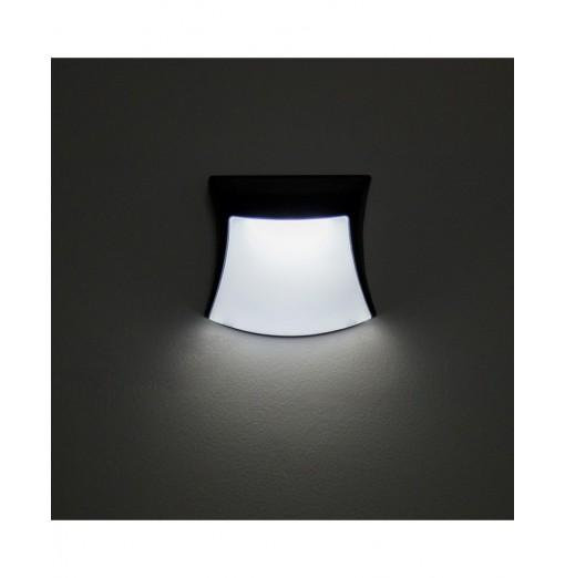 Solar LED Light Human Face 3 LEDs for Outdoor Wall Decor