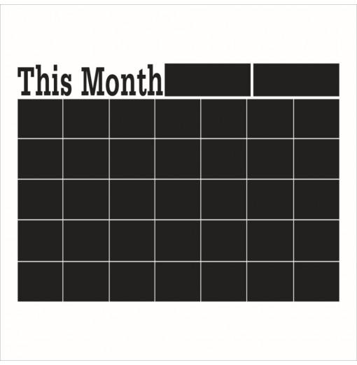 Removable Wall Sticker Monthly chalkboard Chalk Board Blackboard Calendar Memo