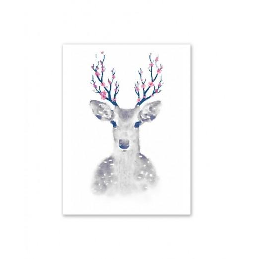 W018 Deer Unframed Art Wall Canvas Prints for Home Decorations