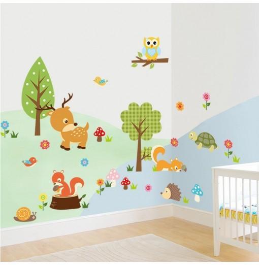 Animals Cute PVC Wall Sticker