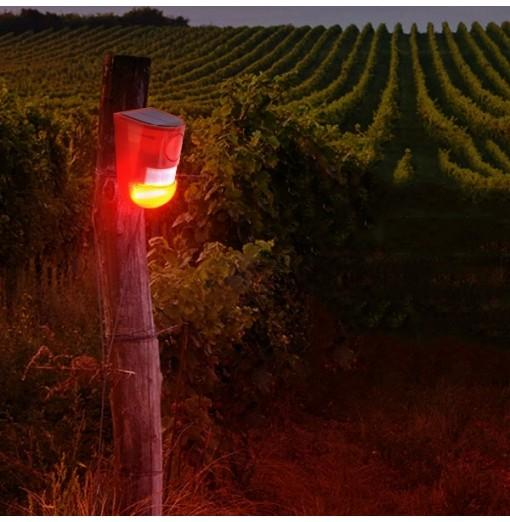 N911 Big Decibel 4 Modes Solar Warning Light Suitable for Farm / Factory Warehouses / Home Security