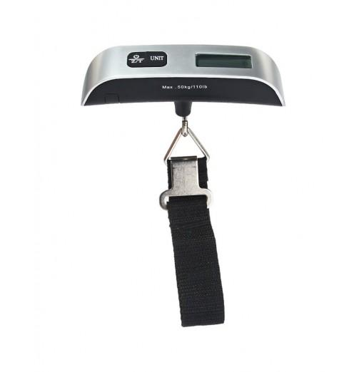 Hostweigh LCD Electronic Scale 50kg Capacity Hand Carry Luggage Digital Weighing Device Thermometer