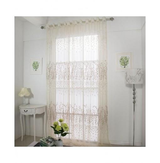 Semi transparent window curtain