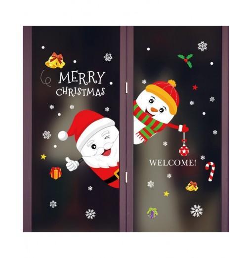 Merry Christmas PVC Door Window Wall Sticker