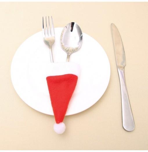 YEDUO Tableware Knife Fork Christmas Decoration Hat Tool