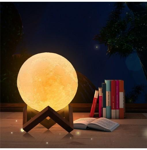 3D LED Moon Lamp with USB Touch Control Charger