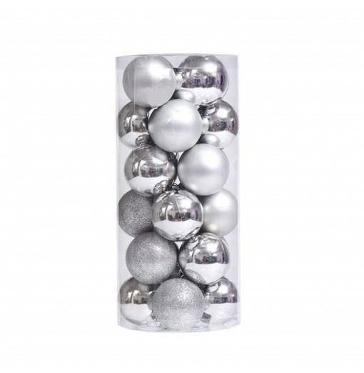 Glitter Shatterproof Christmas Balls Baubles 24