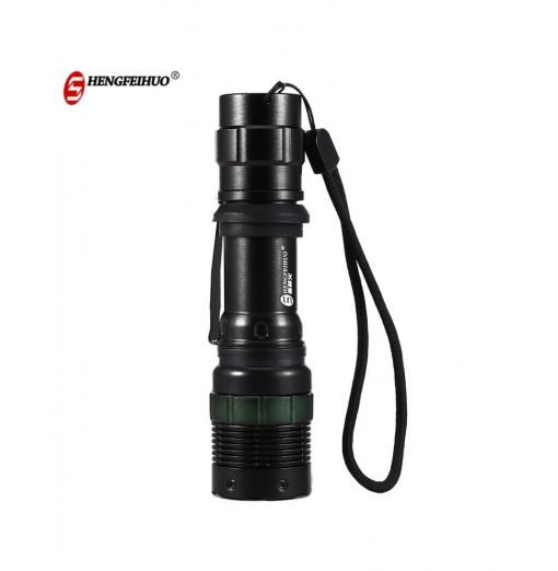 LED Zoom Aluminum Alloy Rechargeable Flashlight