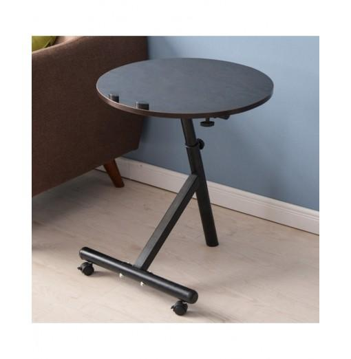 Movable Lift Desk Round Adjustable Tea Table