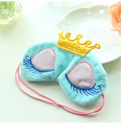 Lovely Sweet Candy Color Crown Long Eyelashes Shade Eye Mask