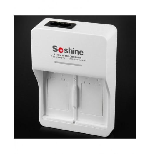 Soshine V1 9 Volt 2-Slot Li-ion Ni-MH Smart Battery Charger - 250V