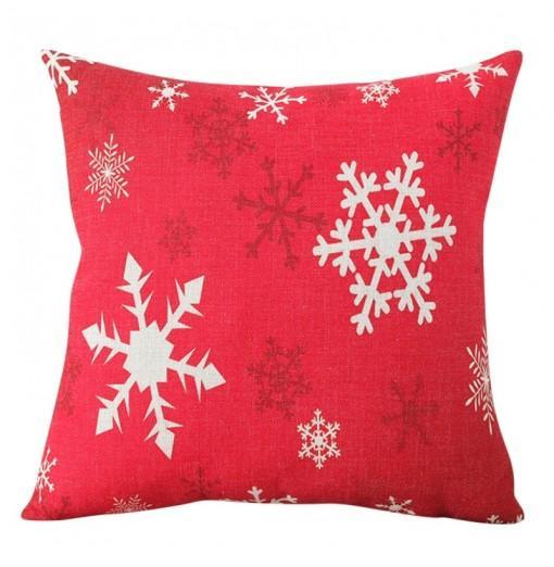 Christmas Linen Snowflake Pillowcase