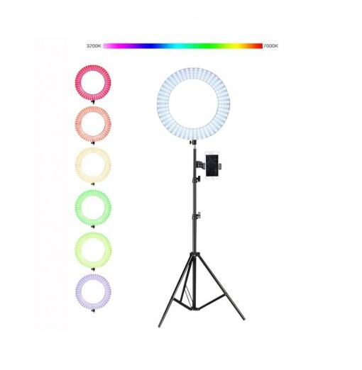 14 inch LED Video Photo Ring Light RGBW Colorl Lamp for Mobile Phone DSLR Camera