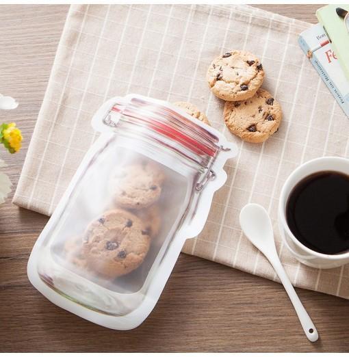 Household Portable Sealing Mason Bottle Ziplock Storage Bag 3pcs