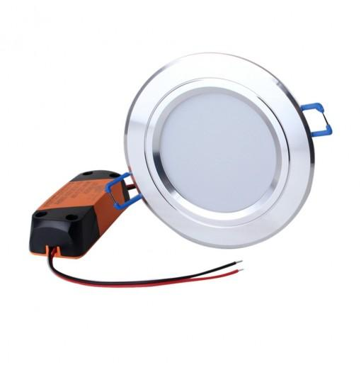 ZHISHUNJIA 3inch 5W SMD 5730 20LED Dimming Embedded Down Lamp - 3000K 4500K 6000K
