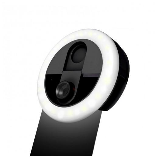 Wide Angle Lens Selfie Ring Light 1W 5500-6500K 36 LEDs Photographic Lighting Video Lamp 1pc