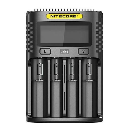 Nitecore UMS4 LCD Screen USB Battery Charger for Daily Use