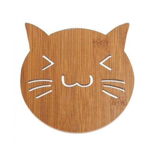 Lovely Hollow Wooden Carved Coaster Heat-insulated Anti-skid Cup Mat Kitchen Tableware
