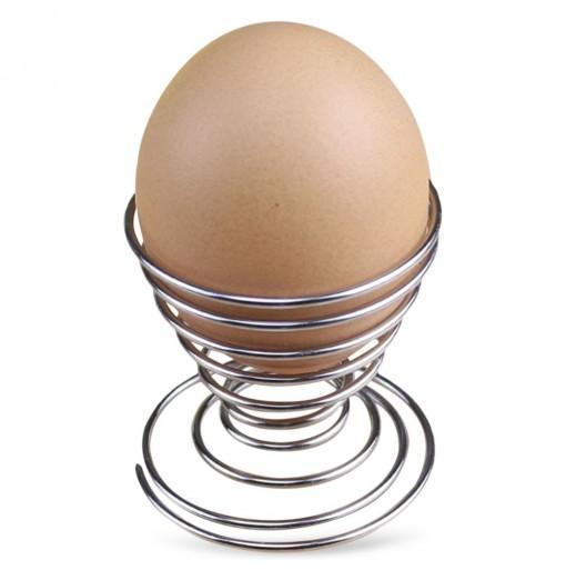 DIHE Barbecue Spiral Egg Rack Egg Carton Spring Shelf Originality