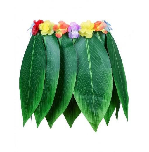 Hawaiian Luau Green Leaf Skirt Artificial Silk-like Cloth