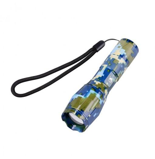 UKing Xml T6 1000LM 5 Mode Zoomable Camouflage Flashlight Torch