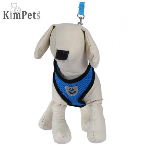 Kimpets Pet Harness Leash Soft Mesh Dog Cat Vest