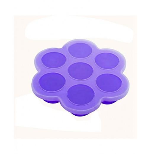Baby Silicone Assist Food Feeding Box Ice Cube Tray with Cover