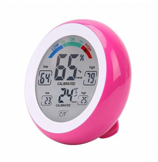 Digital Hygrometer Indoor Thermometer Humidity Monitor with LCD Touch Screen