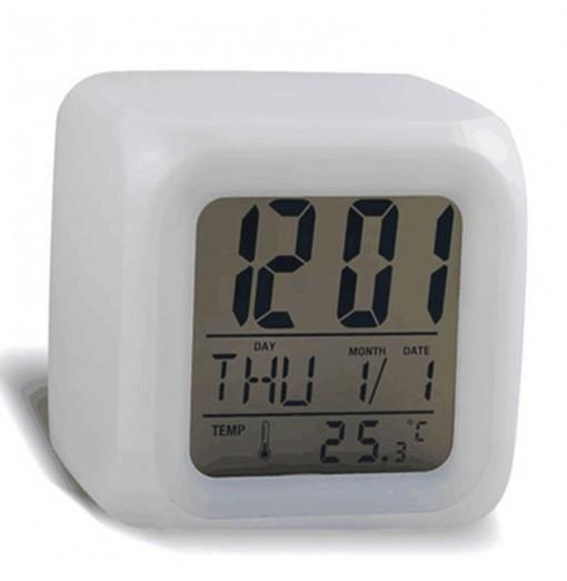 Colorful Color Mood Clock Cube Clock LED Digital Display Alarm Clock