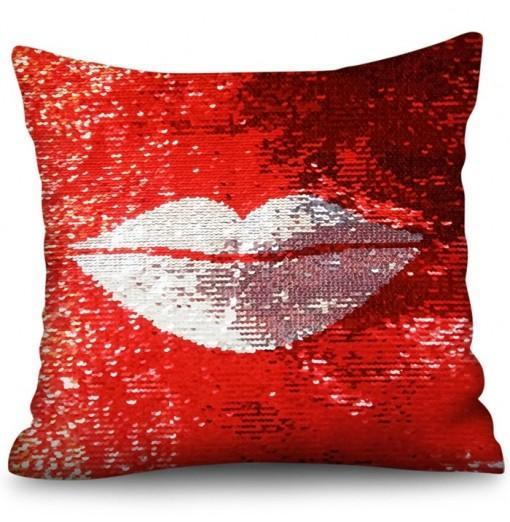 Crystal Velvet Sequined Square Pillowcase