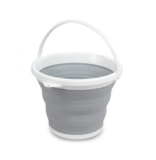 Collapsible Bucket Water Container Pop-up Space Saving Portable Pail with Handle