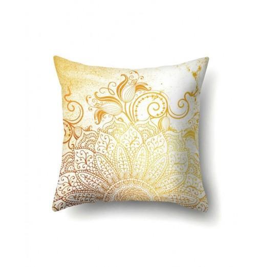 Pink Gold Mandala Cuddle Pillowcase