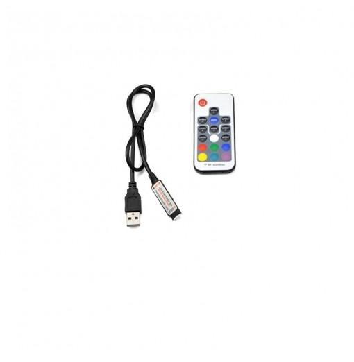 1SET DC 5V IR 17 KEY RGB Remote Controller for RGB LED Light Strip USB