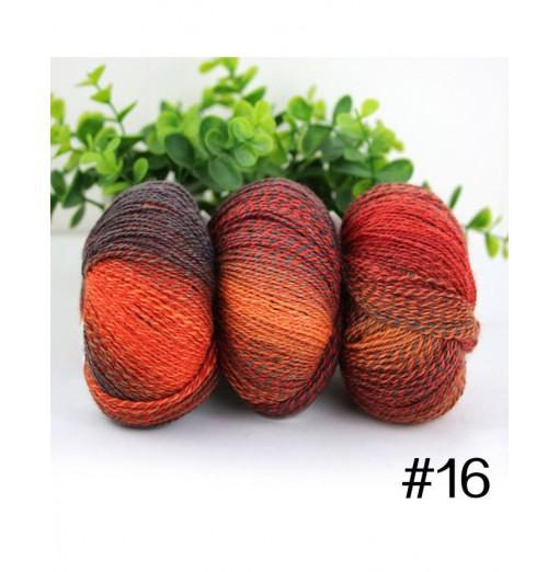 Hand-Woven Rainbow Colorful Knitting Scores Wool Yarn