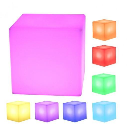 LED Cube Rechargeable Cordless Decorative Light / Stool