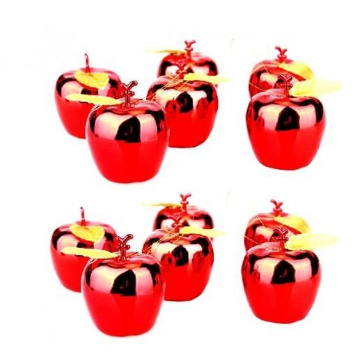 PVC Creative Christmas Decor Apple Design Pendant 12PCS