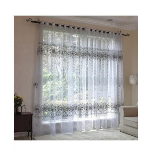 2pcs Window Screening Voile Curtains