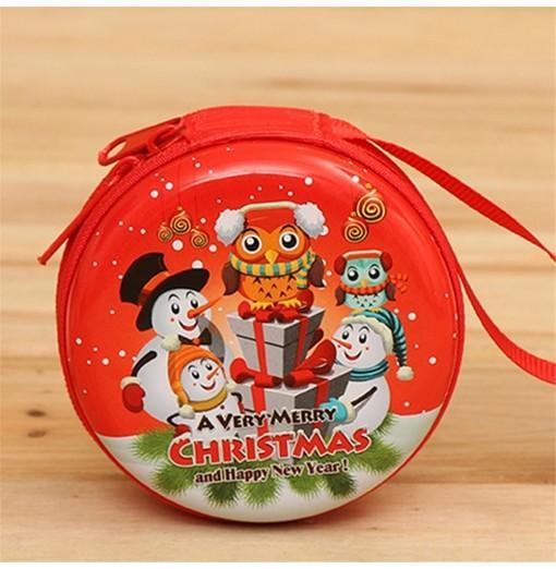 Christmas Gifts Coin Purse Earphone Storage Bag Tree Window Decoration Pendant