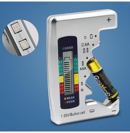 Digital Battery Tester Checker for C/D/9V/AA/AAA/1.5V Measuring Instrument