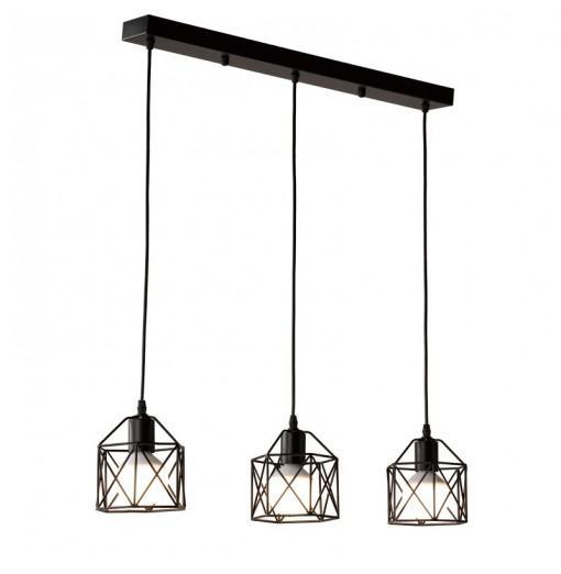 Industrial Black Pendant Lights Living Room Lamp 3-LIGHT E27